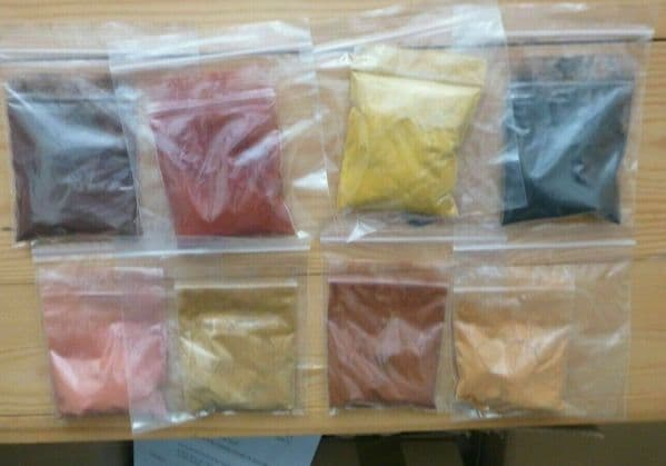 EARTH PIGMENT FOR LUTHIER VARNISH MAKING,25G EACH, 8 COLOURS TO CHOOSE FROM!!